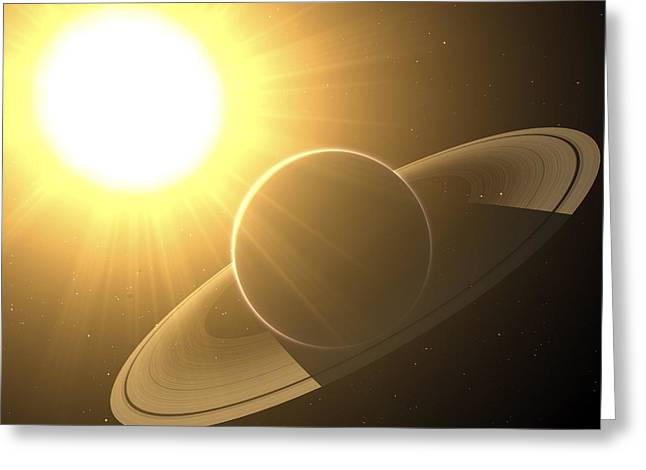 Pollux Greeting Cards - Extrasolar Planet Pollux B, Artwork Greeting Card by Chris Butler