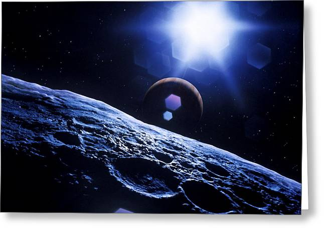 Gas Giant Greeting Cards - Extrasolar Planetary System Greeting Card by Detlev Van Ravenswaay