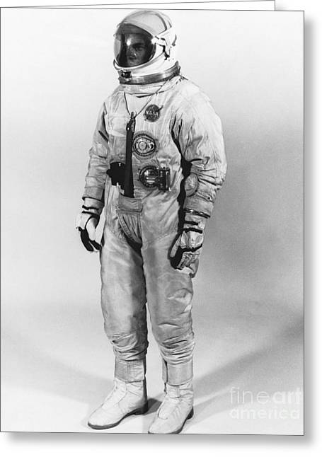 White Suit Greeting Cards - Extravehicular Space Suit 1965 Greeting Card by NASA Science Source