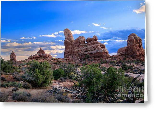 Monolith Greeting Cards - Eye View of Arches Greeting Card by Robert Bales