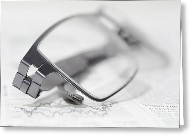 Magazine Pages Greeting Cards - Eyeglasses Greeting Card by Mats Silvan