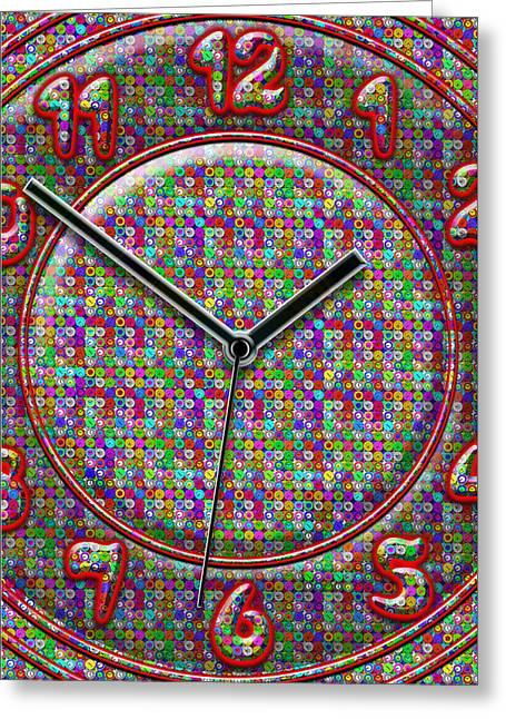 Large Clock Greeting Cards - Faces of Time 2 Greeting Card by Mike McGlothlen