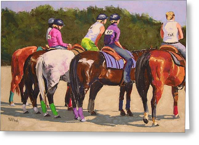 Competition Pastels Greeting Cards - Fair On Board Greeting Card by Mary McInnis