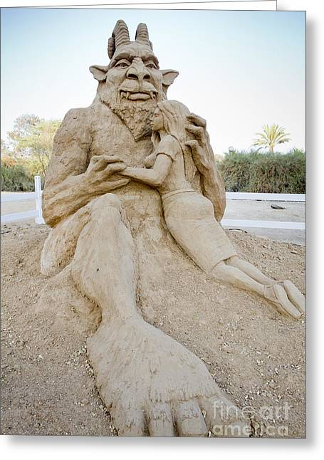 Beauty And The Beast Greeting Cards - Fairytale Sand Sculpture  Greeting Card by Sv
