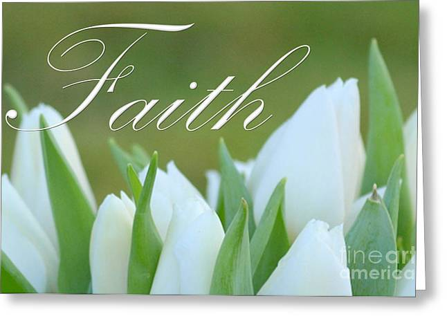 Youthful Digital Art Greeting Cards - Faith Greeting Card by Lj Lambert
