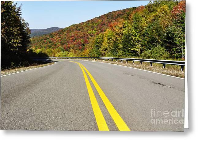 West Virginia Highlands Greeting Cards - Fall color Highland Scenic Highway Greeting Card by Thomas R Fletcher