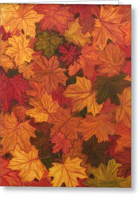 Eureka Springs Paintings Greeting Cards - Fall Has Fallen Greeting Card by Shiana Canatella