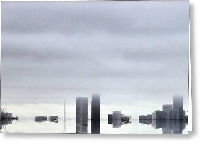Storm Landscape Greeting Cards - Fallen City Greeting Card by Jonathan Ellis Keys
