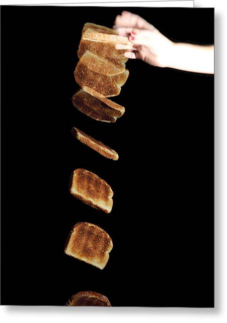 Unlucky Greeting Cards - Falling Toast Greeting Card by Ted Kinsman