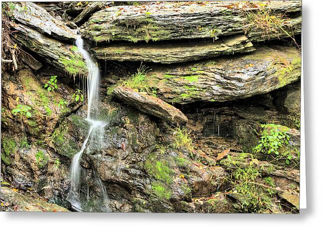Watershed Greeting Cards - Falling Waters Greeting Card by JC Findley