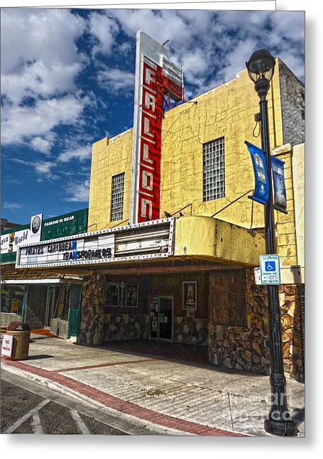 Fallon Nevada Movie Theater Greeting Card by Gregory Dyer