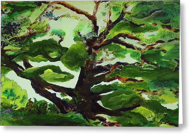 Tree Roots Mixed Media Greeting Cards - Family Tree Greeting Card by AnDe Herbert