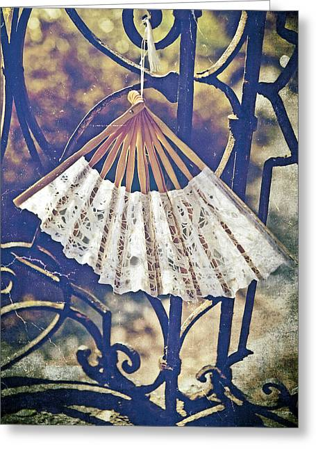 Chic Greeting Cards - Fan Greeting Card by Joana Kruse