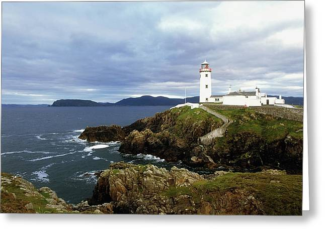 Head Harbour Lighthouse Greeting Cards - Fanad Head Lighthouse, Co Donegal Greeting Card by The Irish Image Collection