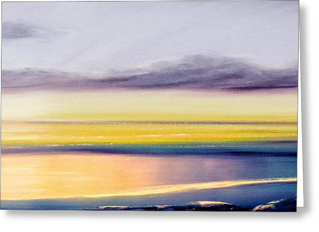 Sunset Posters Greeting Cards - Fancy That - Panoramic Sunset Greeting Card by Gina De Gorna