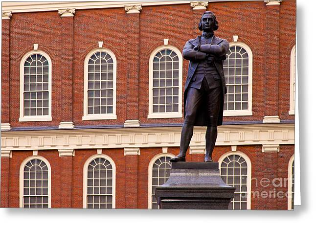 Spokesman Greeting Cards - Faneuil Hall Greeting Card by Brian Jannsen