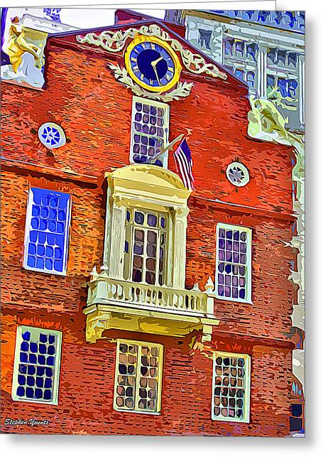 Faneuil Hall Greeting Cards - Faneuil Hall Greeting Card by Stephen Younts