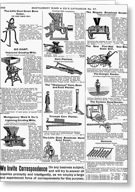 Harrow Greeting Cards - Farm Equipment, 1895 Greeting Card by Granger