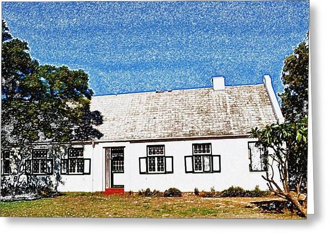 Stellenbosch Greeting Cards - Farm House Greeting Card by Werner Lehmann