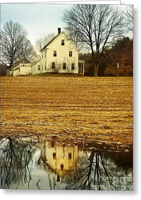 Flooding Photographs Greeting Cards - Farmhouse Greeting Card by HD Connelly