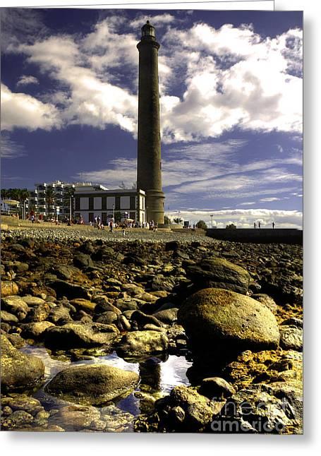 Faro Greeting Cards - Faro Lighthouse  Greeting Card by Rob Hawkins