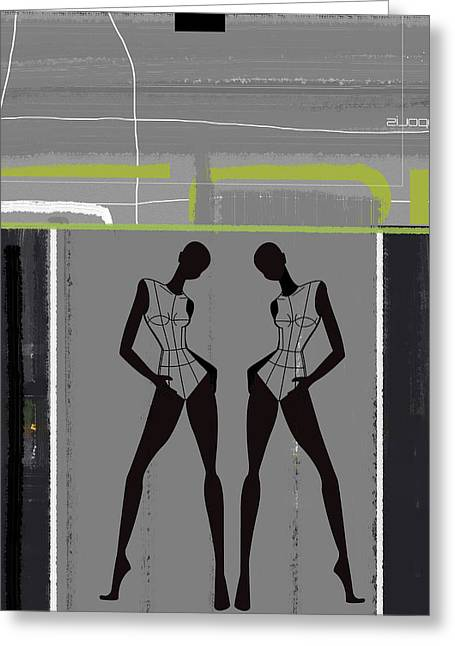 Expressive Greeting Cards - Fashion Dance Greeting Card by Naxart Studio