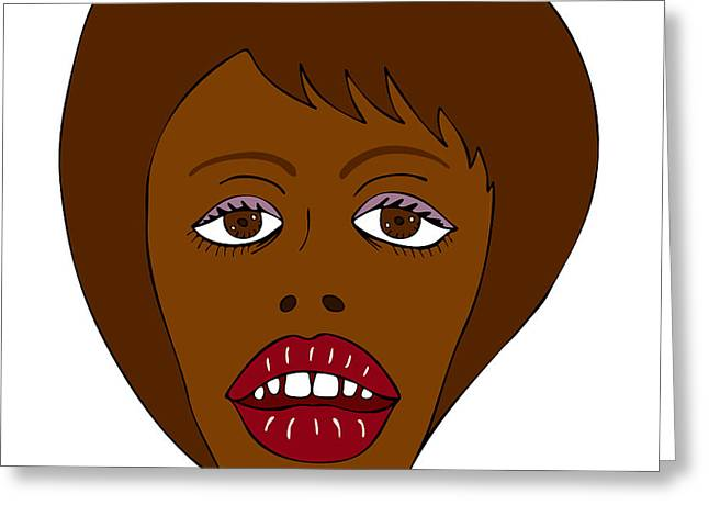 African Drawings Greeting Cards - Fashion illustration Greeting Card by Frank Tschakert