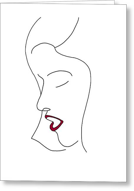 Sleeping Face Greeting Cards - Fashion sketch Greeting Card by Frank Tschakert