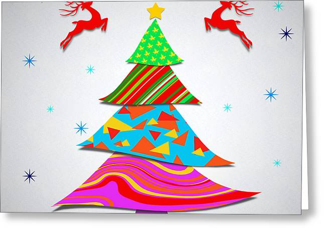 Chic Digital Greeting Cards - Fashion Xmas Greeting Card by Atiketta Sangasaeng