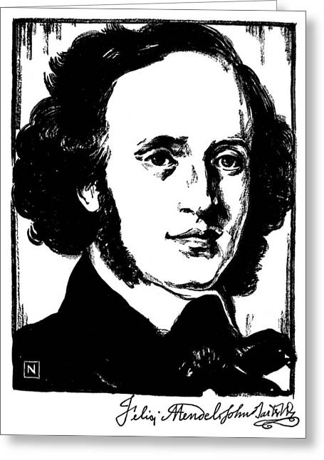 Sideburns Photographs Greeting Cards - Felix Mendelssohn Greeting Card by Granger