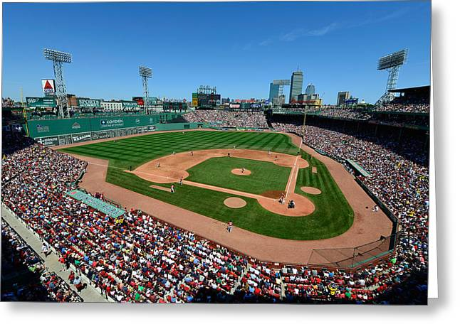 Baseball Stadiums Greeting Cards - Fenway Park - Boston Red Sox Greeting Card by Mark Whitt