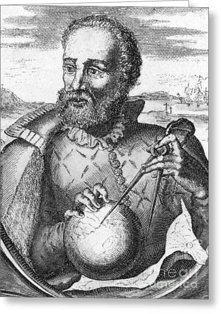 Ferdinand Magellan, Portuguese Explorer Greeting Card by Photo Researchers