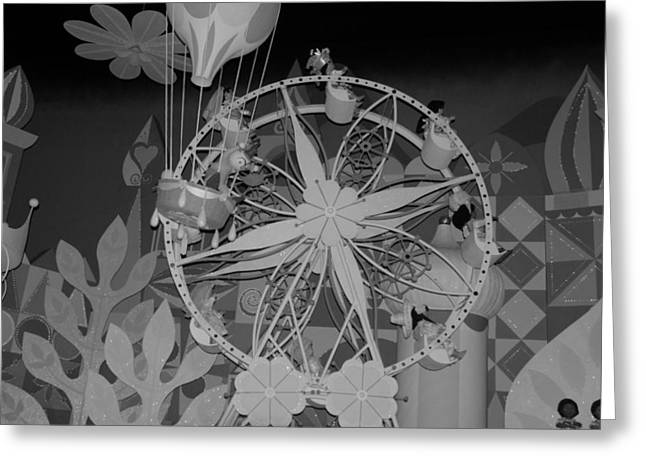 Balloon Flower Digital Art Greeting Cards - Ferris Wheel Greeting Card by Rob Hans