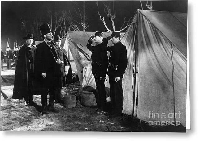 Wark Photographs Greeting Cards - Film Still: Abraham Lincoln Greeting Card by Granger