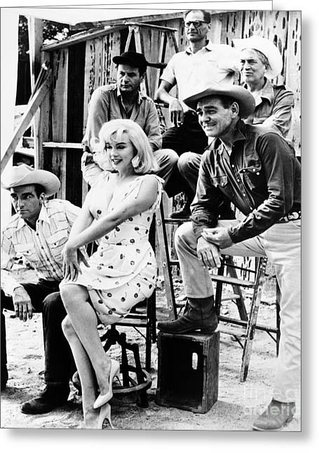Huston Greeting Cards - Film: The Misfits, 1961 Greeting Card by Granger
