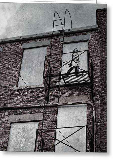 Religion Framed Prints Greeting Cards - Fire Escape  Greeting Card by Jerry Cordeiro