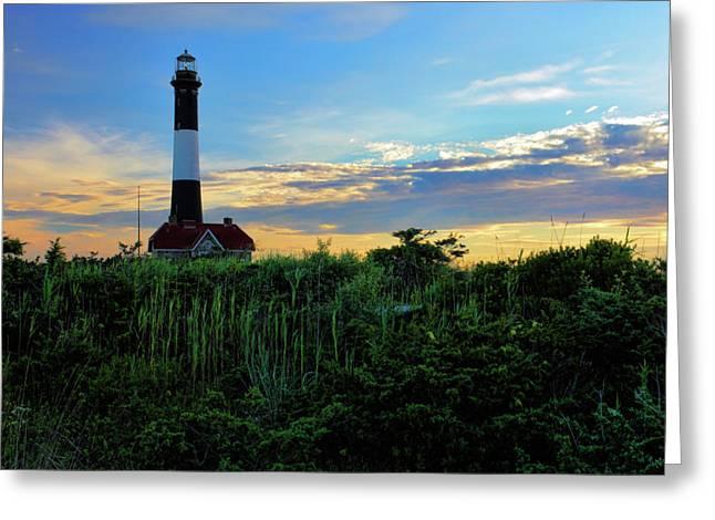 Fire Island Lighthouse Greeting Card by Rick Berk