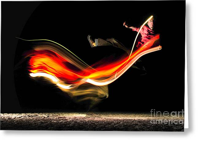 Marko Greeting Cards - Fire Greeting Card by Marko Moudrak