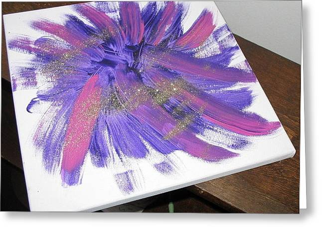 Fireworks Mixed Media Greeting Cards - Fireworks Greeting Card by Diana  Lesher