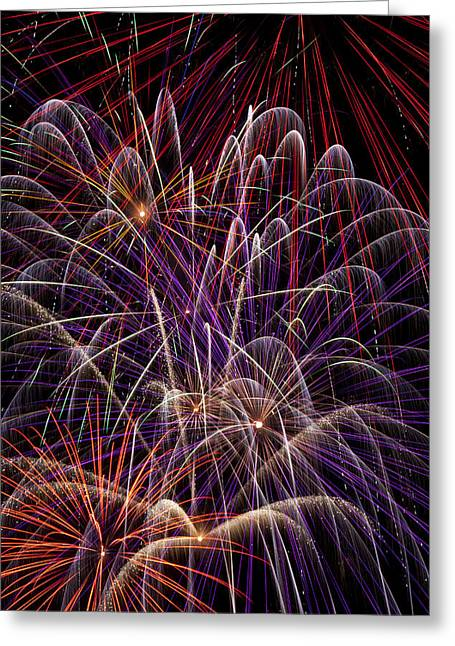 4th July Photographs Greeting Cards - Fireworks Greeting Card by Garry Gay