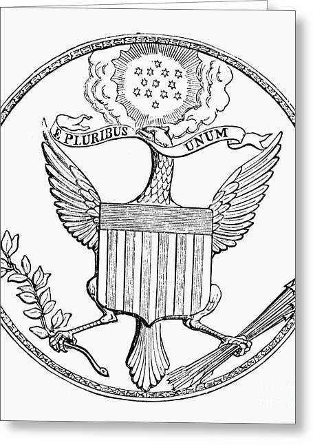 Olive Branch Greeting Cards - First U.s. Seal, 1782 Greeting Card by Granger