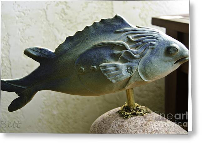 Ceramic Sculpture Ceramics Greeting Cards - Fishers of Men Greeting Card by Christine Belt