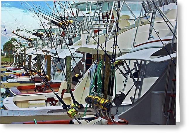 Fishing Fleet Greeting Card by Michael Thomas