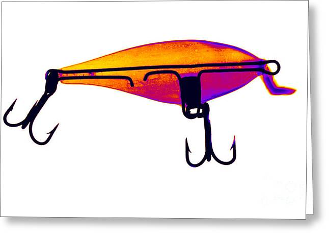 Fishhook Greeting Cards - Fishing Lure Greeting Card by Ted Kinsman