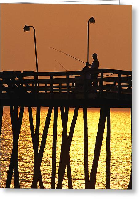 Rodanthe Greeting Cards - Fishing Pier At Rodanthe, North Greeting Card by Steve Winter