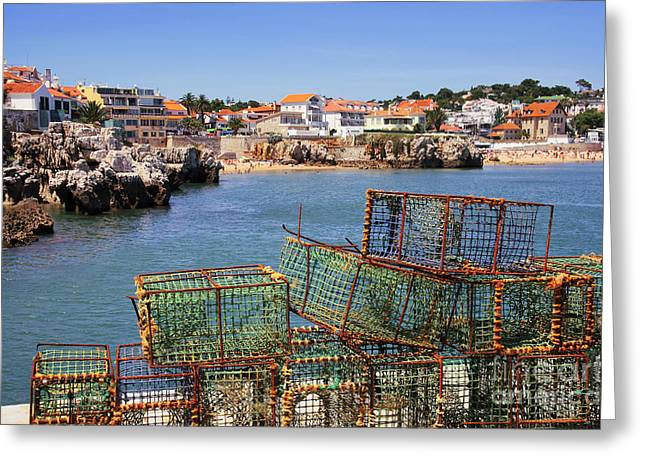 Fishing Traps Greeting Card by Carlos Caetano