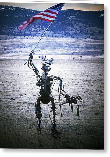 Flag Waver Greeting Card by Day Williams