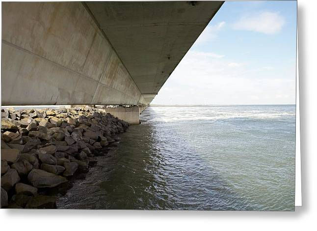 Flooding Greeting Cards - Flood Barrier, Netherlands Greeting Card by Colin Cuthbert