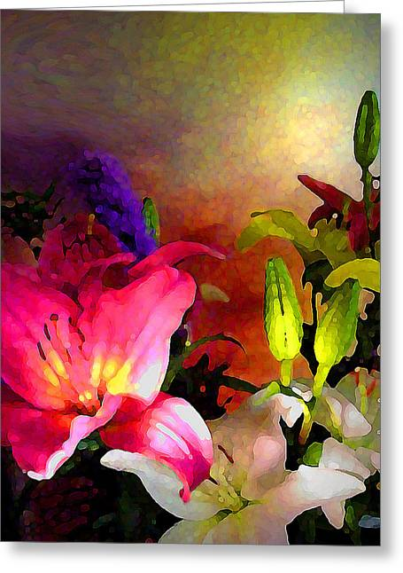 Visionary Artist Greeting Cards - Floral Glory Greeting Card by George  Page