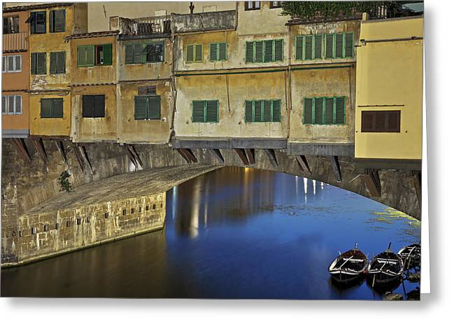 Florence Greeting Cards - Florence - Ponte Vecchio Greeting Card by Joana Kruse